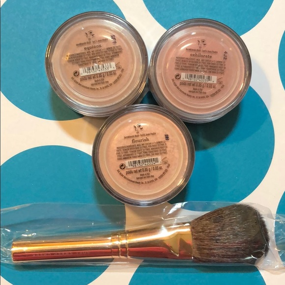 bareMinerals Other - Bare Minerals Set of 3 Blushes & brush